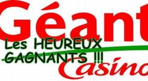 LES HEUREUX GAGNANTS DU TIRAGE GEANT CASINO